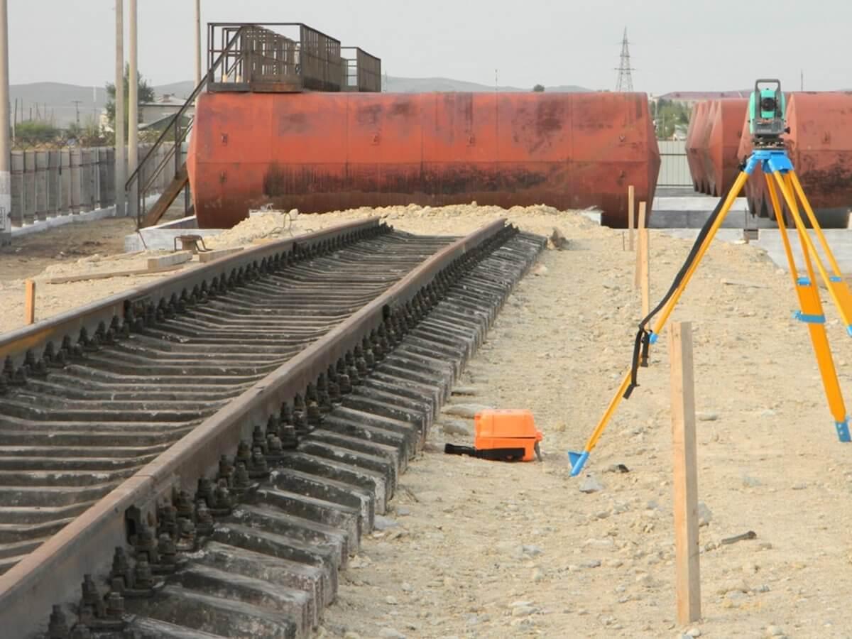 Геодезические работы при строительстве железных дорог