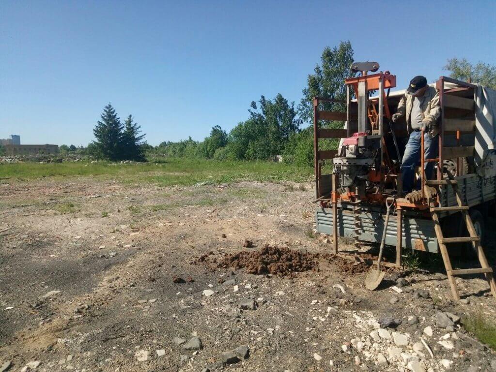 Изучение грунта исследуемого участка